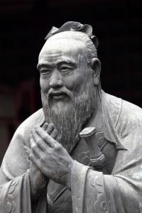Philosophie Konfuzius Statue vor dem Konfuzius-Tempe
